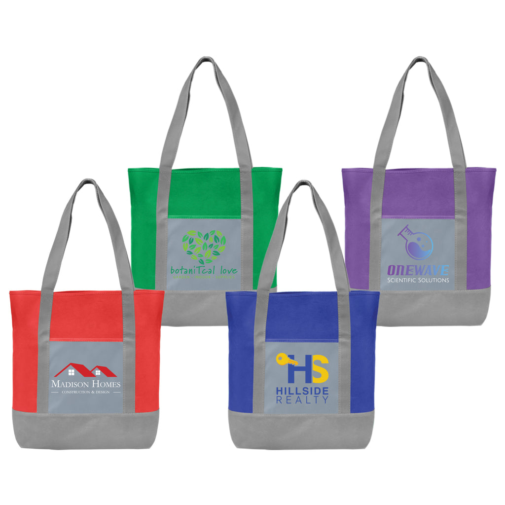 Totes Glenwood - Non-Woven Tote Bag with 210D Pocket - ColorJet