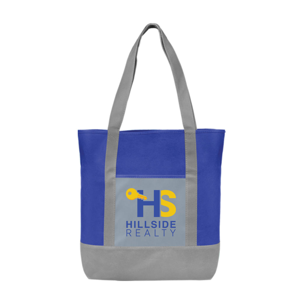 Glenwood - Non-Woven Tote Bag with 210D Pocket - ColorJet