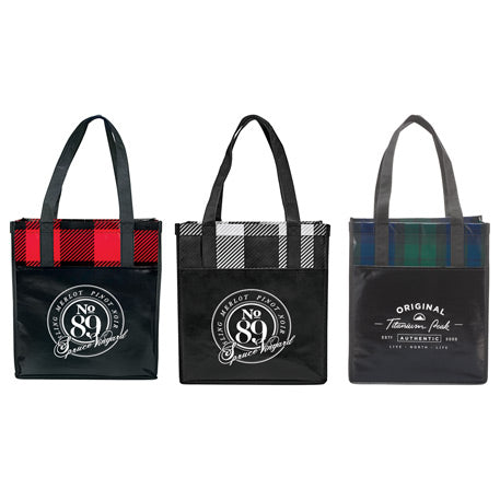 buffalo-plaid-laminated-grocery-tote