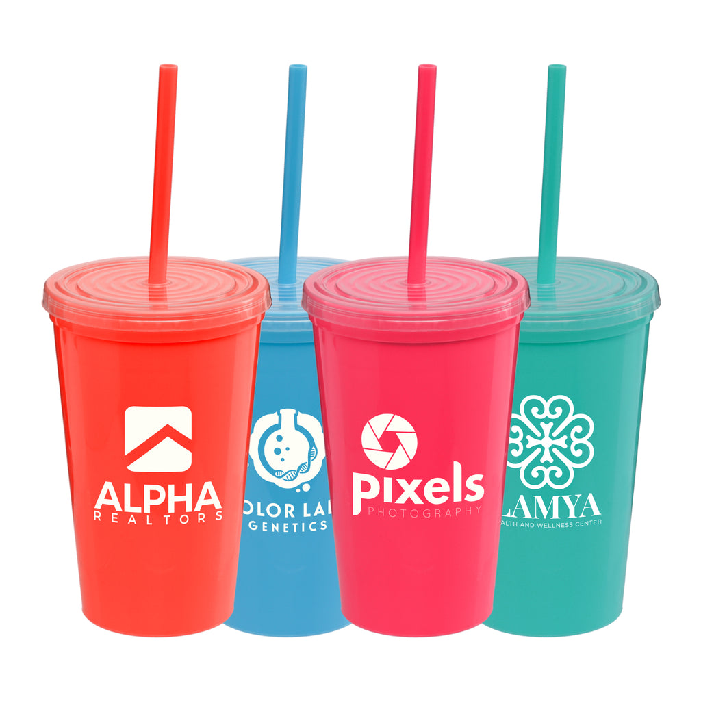 Bottles Explore Brights - 16 oz. Double-Wall Tumbler