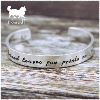 A true friend leaves paw prints on your heart cuff