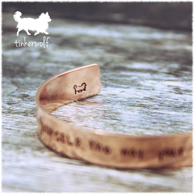 Believe in yourself copper cuff