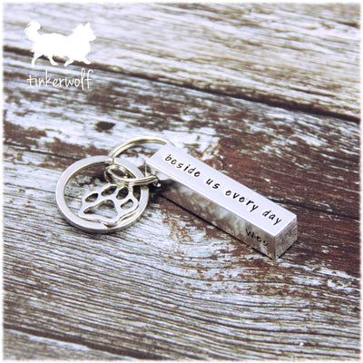 Those we love don't go away chunky bar keyring