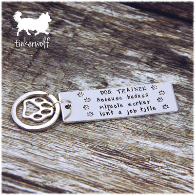 DOG TRAINER keyring