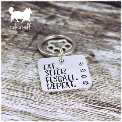 EAT. SLEEP. FLYBALL. REPEAT. keyring