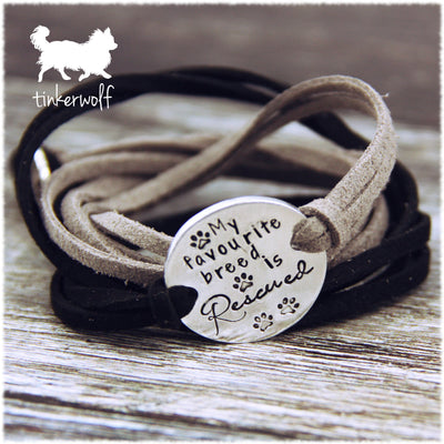 My favourite breed is rescued disc wrap bracelet