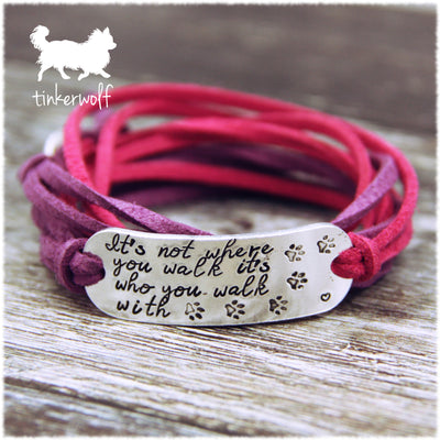 It's who you walk with wrap bracelet