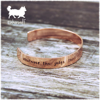 Take the best dog home copper cuff