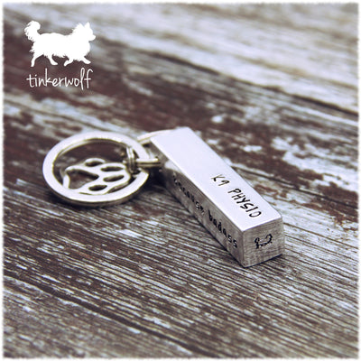 K9 Physio large chunky bar keyring