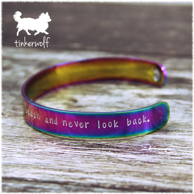 Get a dog rainbow stainless steel cuff