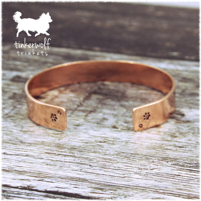 Name and paws copper cuff