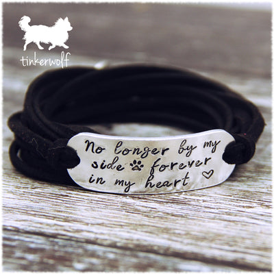 No longer by my side wrap bracelet