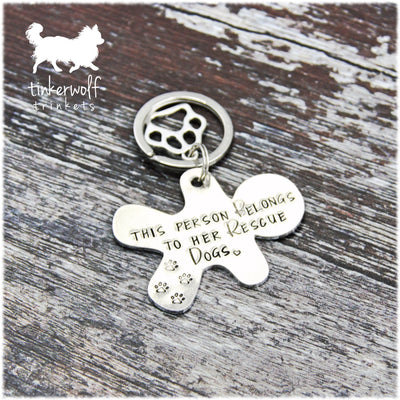 This person belongs to her rescue dogs keyring