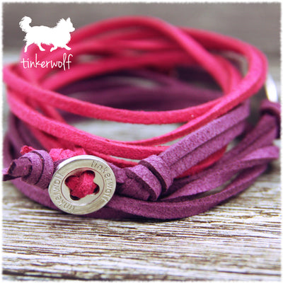 Whippets poke their noses rounded bar wrap bracelet