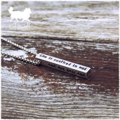 She goes forward without fear of failure pendant
