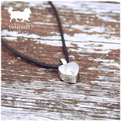 Small heart urn pendant