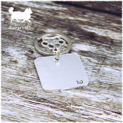 Names and paws keyring