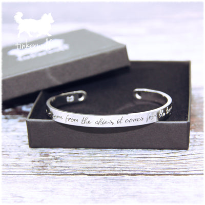 The love in my dogs eyes stainless steel cuff