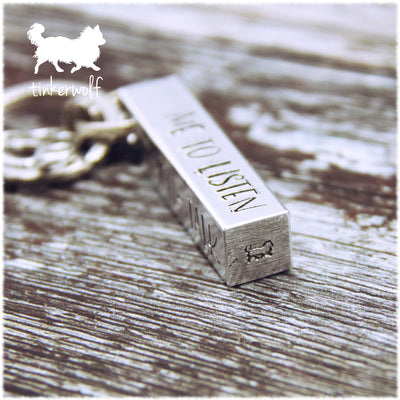Talk about dogs extra large chunky bar keyring