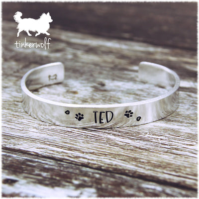 Name and paws cuff