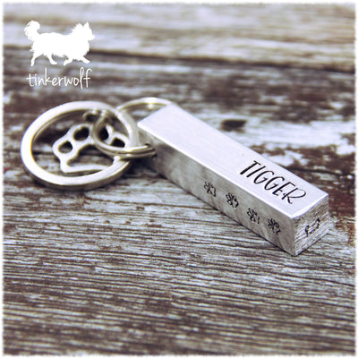 Names and paws chunky bar keyring