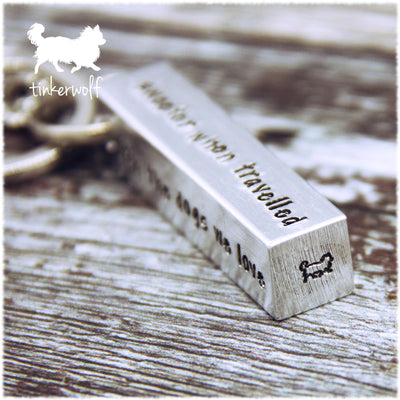 The journey of life is sweeter extra large chunky bar keyring
