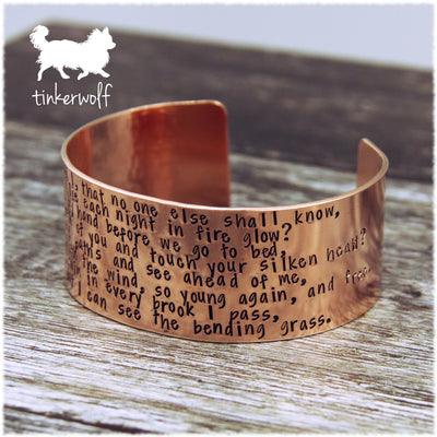 We have a secret you and I copper cuff