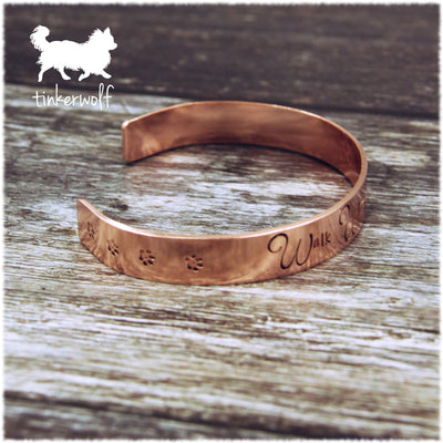 Walk with me forever copper cuff