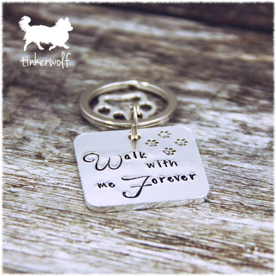 Walk with me forever keyring