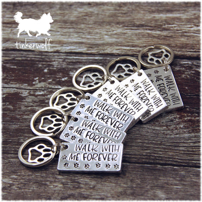 Limited edition Walk with me forever flat chunky keyring