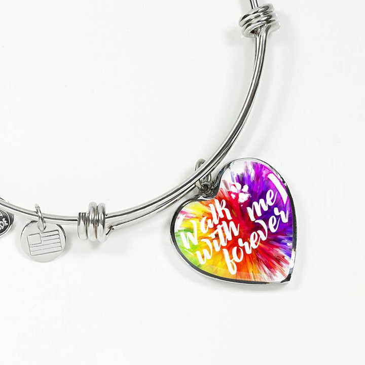 Walk with me forever HEART BANGLE