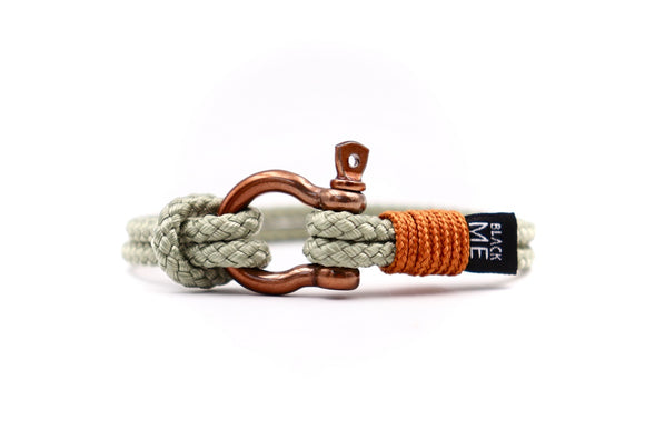Bronze Shackle and Nautical Cord - Cx Handmade