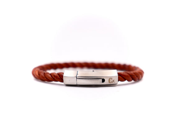 Twisted Leather Bracelet - Cx Handmade
