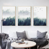 Nordic Decoration Forest Lanscape Wall Canvas - Sdise