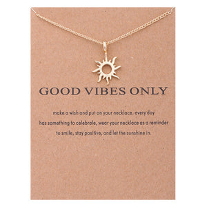 Good Vibes Only Sun Necklaces For Women