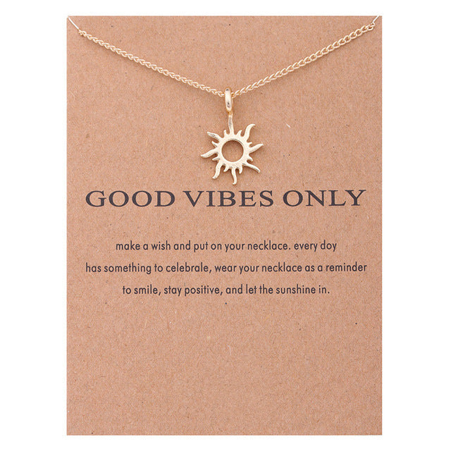 Good Vibes Only Sun Necklaces For Women - Sdise
