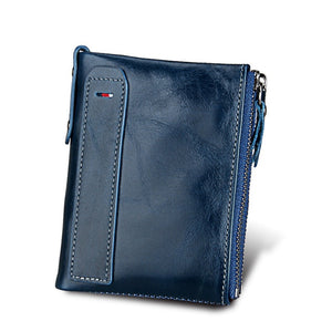 Hot!! Crazy Horse Genuine Leather Men Wallet - Sdise