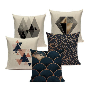 Geometric Black Blue Cushion Cove  Pillows Covers - Sdise