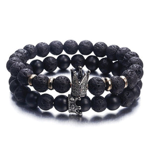 Imperial Crown And Helmet Charm Bracelet For Men - Sdise