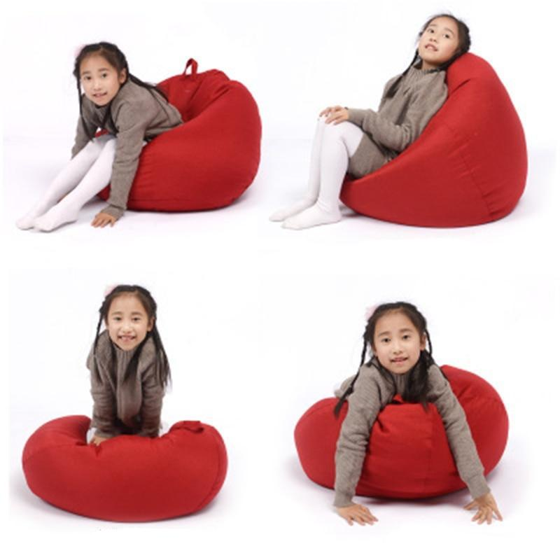 Kids Bean Bag Cover Lounger Sofa Chairs - Sdise