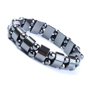 Black Magnetic Hematite Bracelet for Men - Sdise