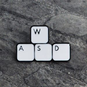 WASD Keyboard Pin Video game