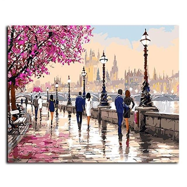 Oil Painting By Numbers Wall Art - Sdise