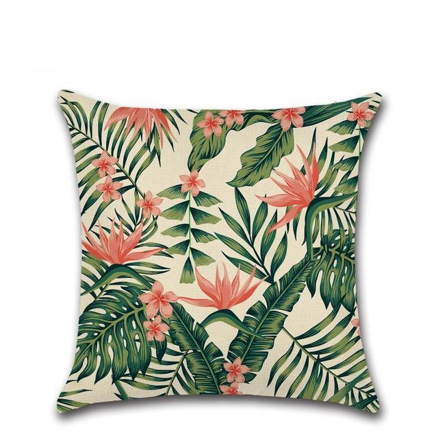 Tropical Plants Palm Pillow Case - Sdise