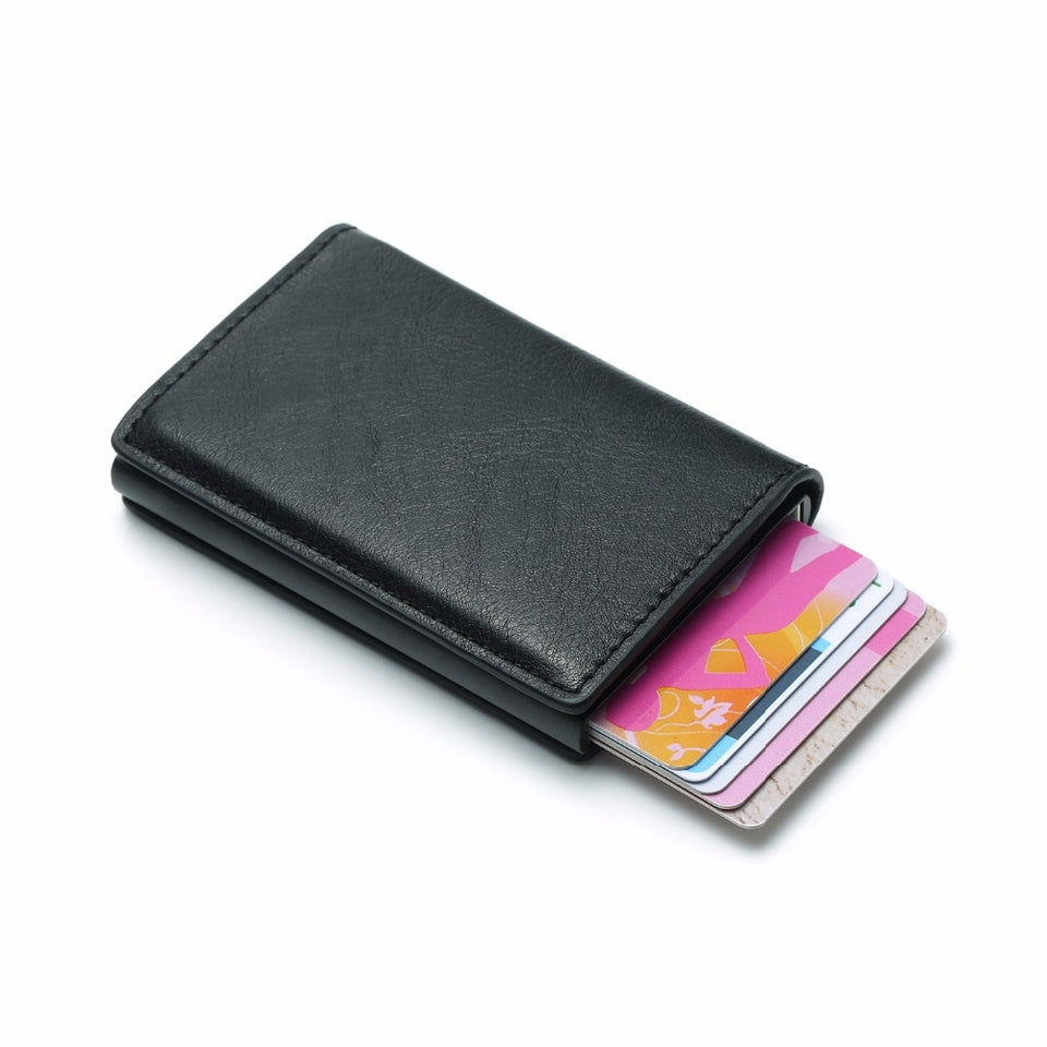 Credit Card Holder PU Leather Wallet men - Sdise