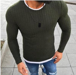 Sweater Solid Knitted Pullover