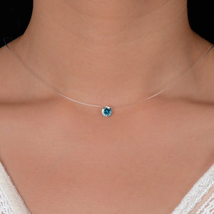 QCOOLJLY Silver ColorPendant Necklace
