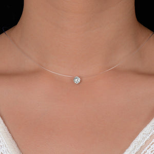 QCOOLJLY Silver ColorPendant Necklace - Sdise