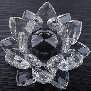 80 mm Feng shui Quartz Crystal Lotus