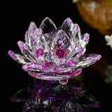 80 mm Feng shui Quartz Crystal Lotus - Sdise